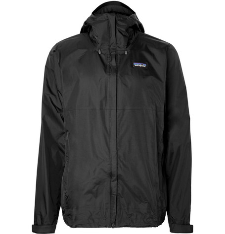 Patagonia Torrentshell Waterproof H2No Performance Standard Ripstop Hooded Jacket In Black