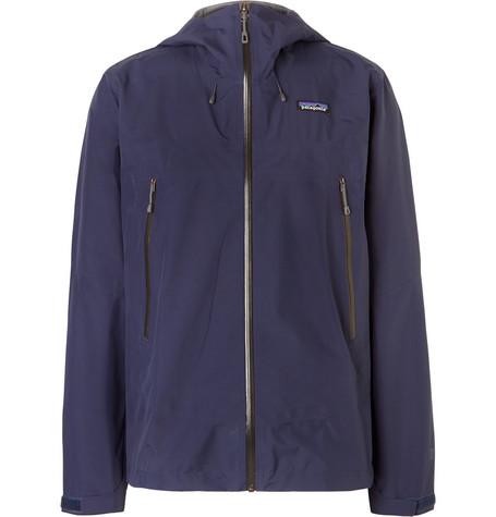 Patagonia Cloud Ridge Waterproof Ripstop Hooded Jacket In Navy