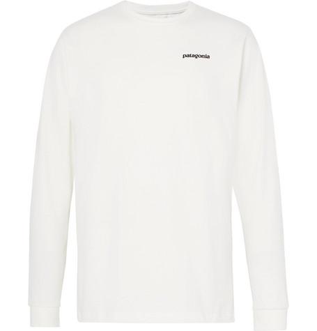 Patagonia P-6 Logo-print Organic Cotton-jersey T-shirt In White