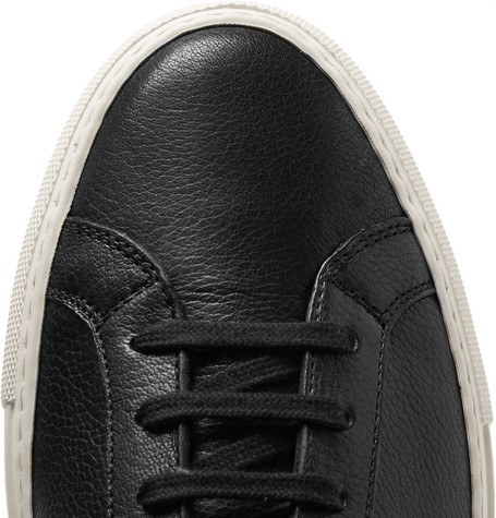 COMMON PROJECTS ORIGINAL ACHILLES FULL-GRAIN LEATHER SNEAKERS, BLACK