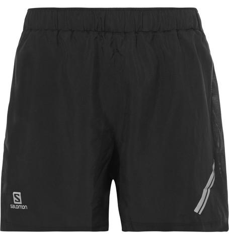 salomon male agile shell and mesh shorts