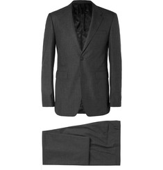 Burberry Grey Slim-Fit Wool-Sharkskin Suit