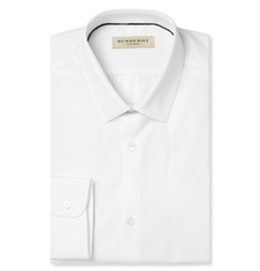 Burberry White Slim-Fit Cotton Shirt