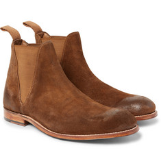 Grenson - Nolan Burnished-Suede Chelsea Boots