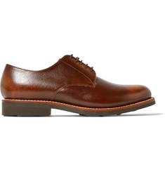 Grenson Curtis Burnished Full-Grain Leather Derby Shoes