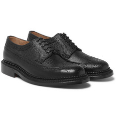 Grenson - Sid Triple-Welted Pebble-Grain Leather Brogues