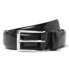 J.Crew - 3cm Black Glossed-Leather Belt
