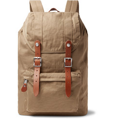 J.Crew Harwick Leather-Trimmed Nylon Backpack