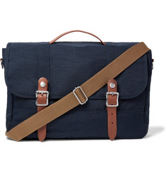 J.Crew Harwick Leather-Trimmed Nylon-Twill Messenger Bag