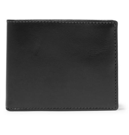 J.Crew Leather Billfold Wallet - Black - One Siz