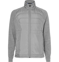 RLX Ralph Lauren - Mélange Stretch-Wool Jersey and Quilted Shell Golf Jacket