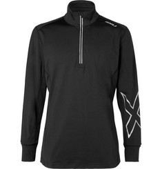 2XU - X-Vent Mesh-Panelled Stretch-Jersey Half-Zip Top