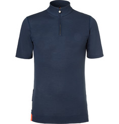 Iffley Road - Sidmouth Panelled Drirelease Piqué Half-Zip T-Shirt