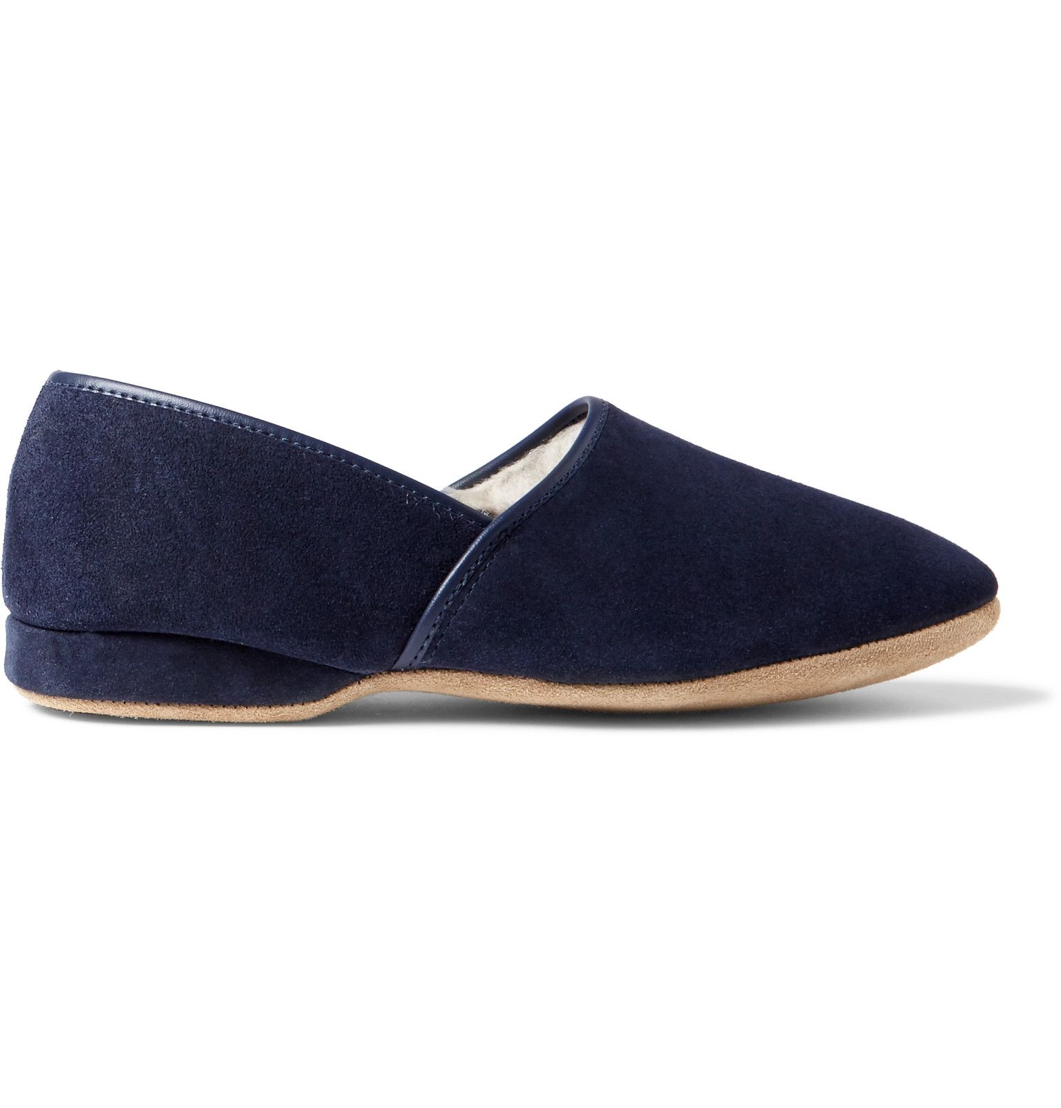 889a4ec7e05d Derek Rose - Crawford Shearling-Lined Suede Slippers