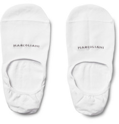Marcoliani Invisible Touch Pima Cotton-Blend No-Show Socks