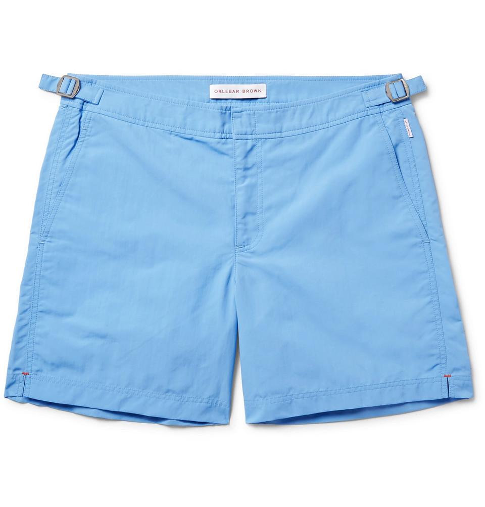 Bulldog Mid-length Swim Shorts - Light blue