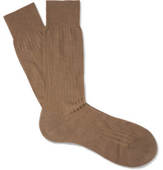 Pantherella - Laburnum Ribbed Merino Wool-Blend Socks