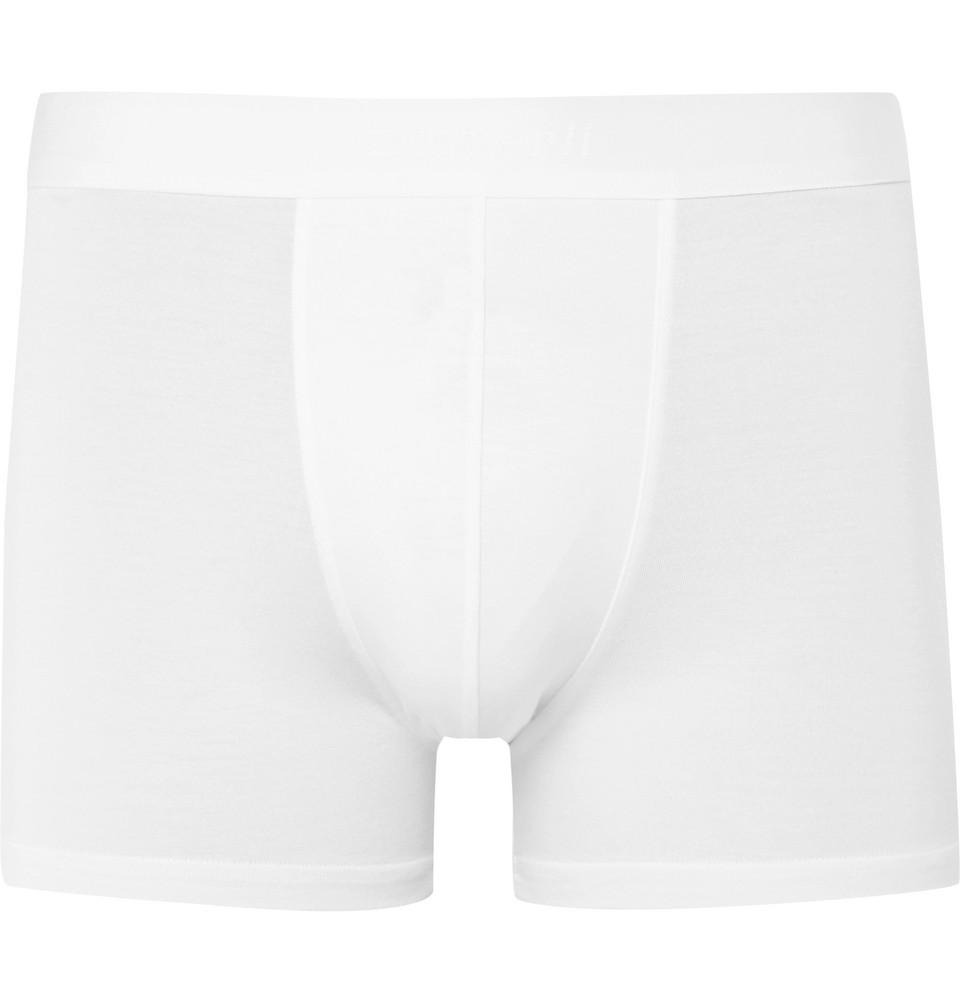Pureness Stretch-micro Modal Boxer Briefs - White