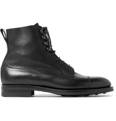 Edward Green Galway Cap-Toe Full-Grain Leather Boots