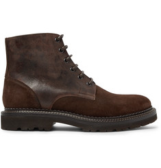 Brunello Cucinelli - Textured-Leather and Suede Boots