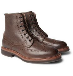 Brunello Cucinelli - Full-Grain Leather Wingtip Brogue Boots