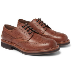 Brunello Cucinelli - Full-Grain Leather Wingtip Brogues