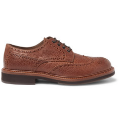 Brunello Cucinelli Full-Grain Leather Wingtip Brogues