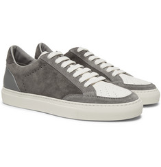 Brunello Cucinelli - Suede and Grained-Leather Sneakers