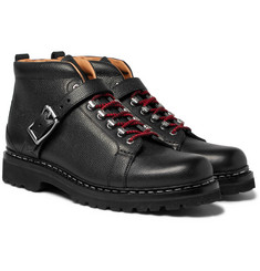 Heschung - Richmond Pebble-Grain Leather Hiking Boots
