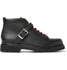 Heschung Richmond Pebble-Grain Leather Hiking Boots