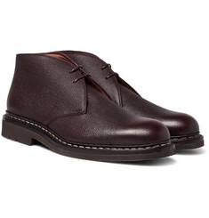 Heschung - Genet Pebble-Grain Leather Chukka Boots