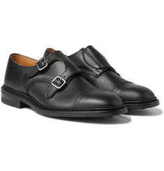 Tricker's - Rufus Cap-Toe Leather Monk-Strap Shoes