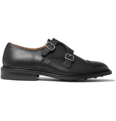 Tricker's Rufus Cap-Toe Leather Monk-Strap Shoes