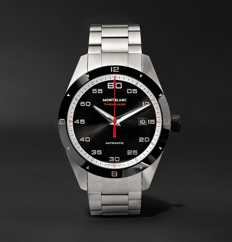 Timewalker Date Automatic 41mm Stainless Steel And Ceramic Watch - Silver