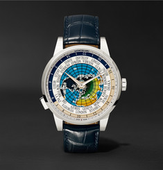 Montblanc - Heritage Spirit Orbis Terrarum LATIN UNICEF 41mm Stainless Steel and Alligator Watch