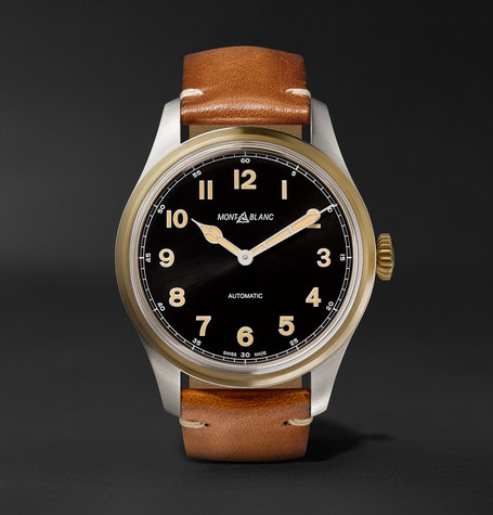 1858 Automatic 44mm Stainless Steel And Leather Watch - Tan