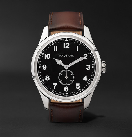 1858 Automatic 44mm Stainless Steel And Leather Watch - Brown