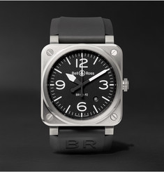 Bell & Ross BR 03-92 42mm Stainless Steel and Rubber Watch