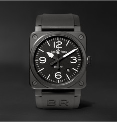 Bell & Ross - BR 03-92 42mm Ceramic and Rubber Watch