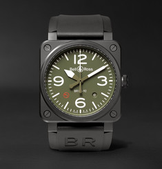 Bell & Ross - BR 03-92 Military Type 42mm Ceramic and Rubber Watch