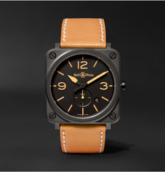 Bell & Ross - BR S Heritage 39mm Ceramic and Leather Watch