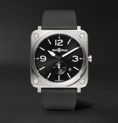 Bell & Ross - BR S 39mm Steel and Rubber Watch