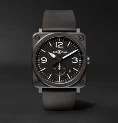 Bell & Ross - BR S 39mm Ceramic and Rubber Watch