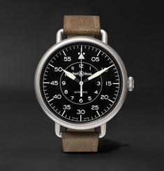 Bell & Ross WW1-92 45mm Steel and Distressed Suede Watch