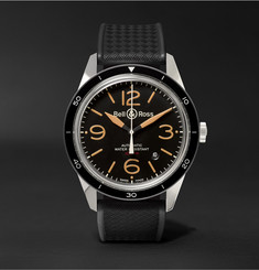 Bell & Ross - BR 123 Sport Heritage Automatic Steel and Rubber Watch