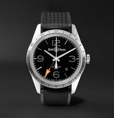 Bell & Ross - BR 123 42mm Steel and Rubber Watch