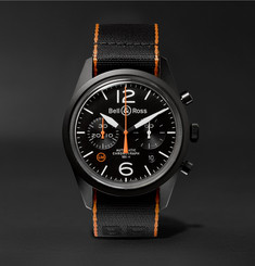 Bell & Ross - BR 126 41mm Steel and NATO Canvas Chronograph Watch
