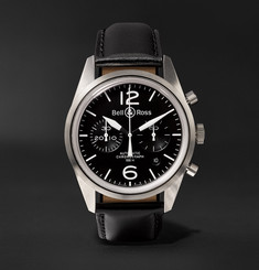 Bell & Ross - BR 126 Automatic Chronograph 41mm Steel and Leather Watch