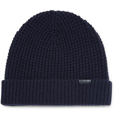 Burberry Waffle-Knit Stretch Wool-Blend Beanie