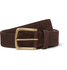 Anderson & Sheppard - 3.5cm Brown Nubuck Belt